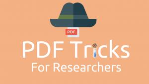 PDF Tricks for Researchers