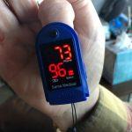 Santamedical fingertip oximeter for blood oxygen
