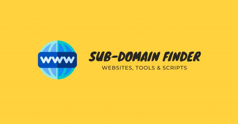 subdomain finder